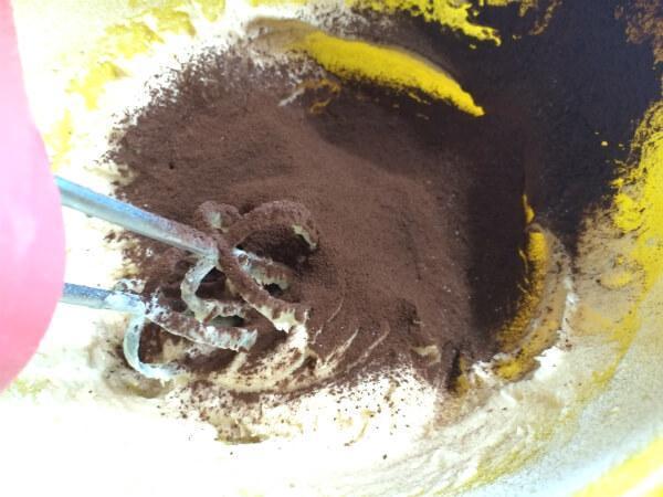 какао в тесто