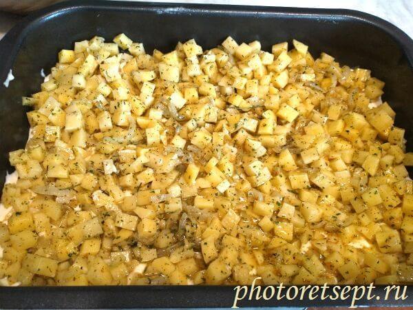 картошка лук тесто