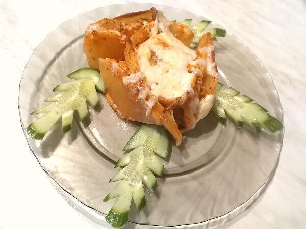 розы картофельные с фаршем