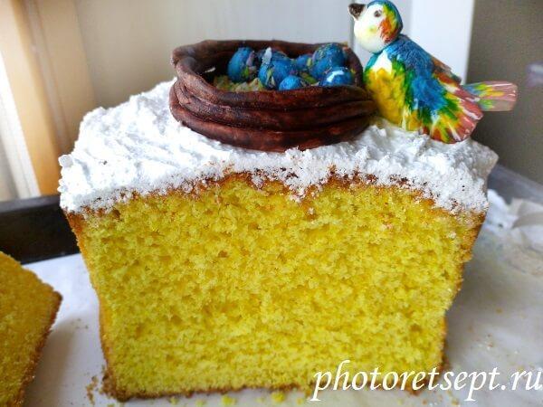 желтый лимонный кулич фото рецепт