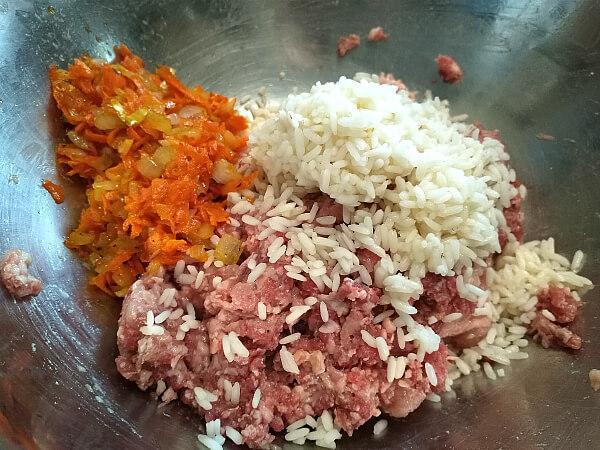 фарш морковь рис