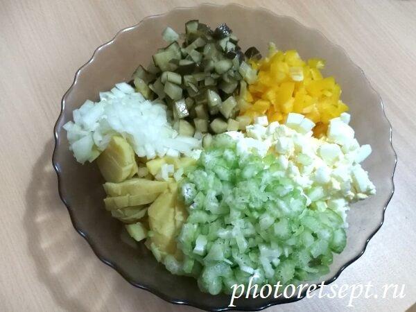 ингредиенты картофельного салата