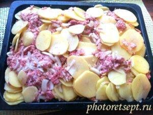 картофель фарш на противень