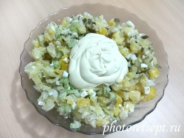 салат картофельный по-американски
