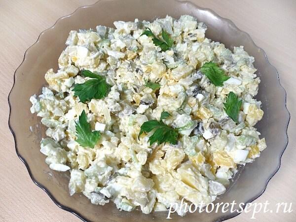 рецепт салат картофельный по-американски