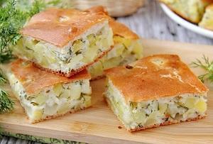картофельный заливной пирог фото 1
