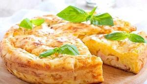 картофельный заливной пирог сыр