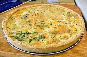 картофельный заливной пирог зелень