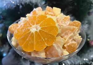 мандарины сыр салат фото