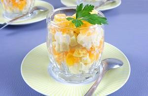 мандарины сыр салат