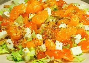 салат мандарины хурма сыр