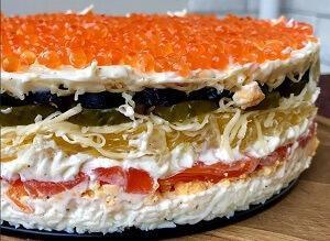 салат с красной рыбой и апельсинами
