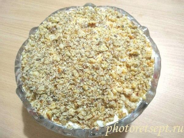 грецкие орехи слой крабовый салат