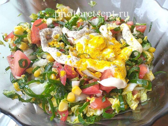 заправить овощной салат майонезо