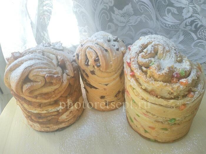 краффины слоеные куличи яблоки шоколад
