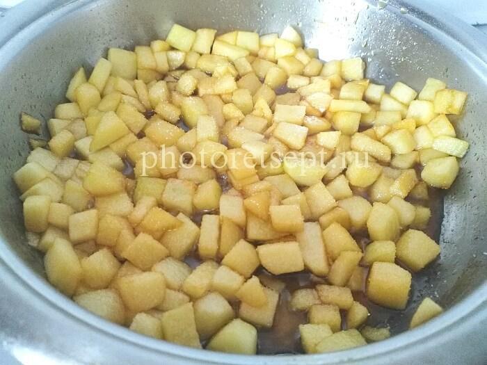 яблоки в карамель