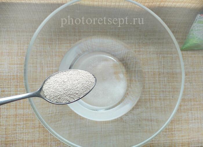 2 дрожжи в воду с сахаром