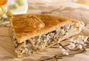 пирог с консервами рисом на кефире