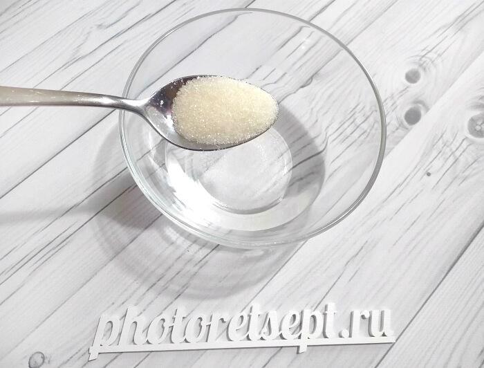ложка сахара в воду