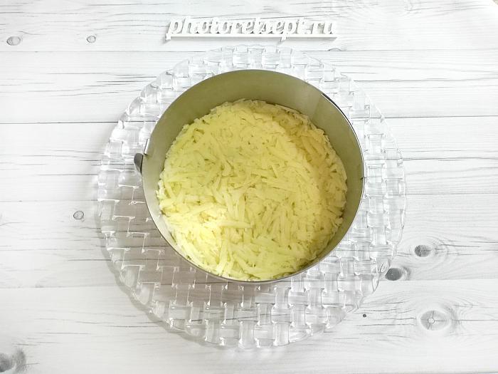 картофель тертый в кольце