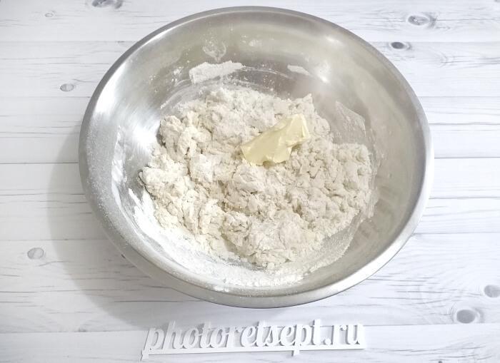 масло сливочное в тесто