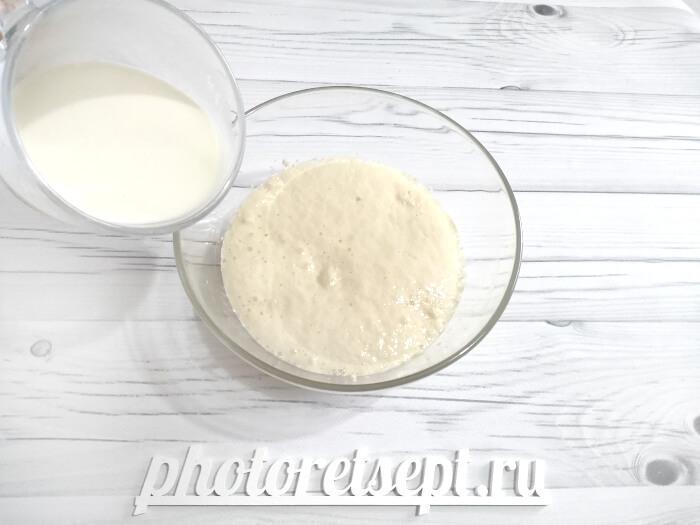 молоко в опару