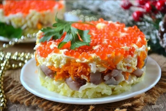 морковь сельдь новогодний салат
