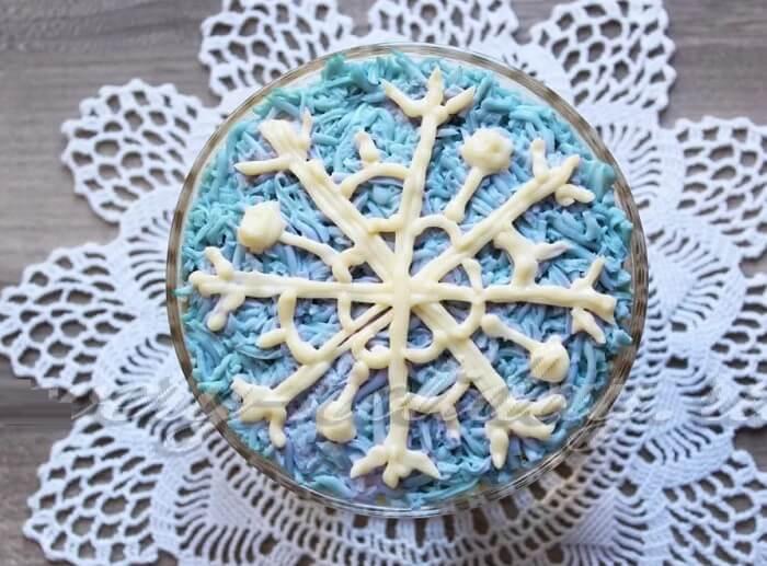 салат снежинка
