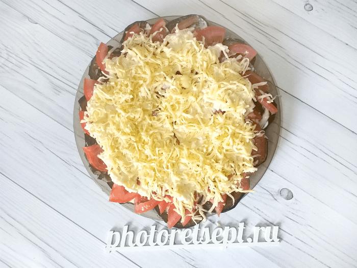 баклажаны закуска помидоры сыр