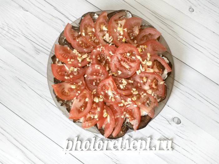 помидоры чеснок на баклажаны