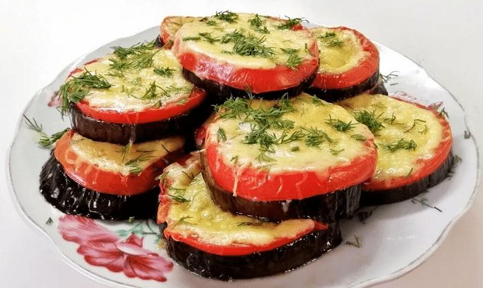 запеченные баклажаны сыр томат