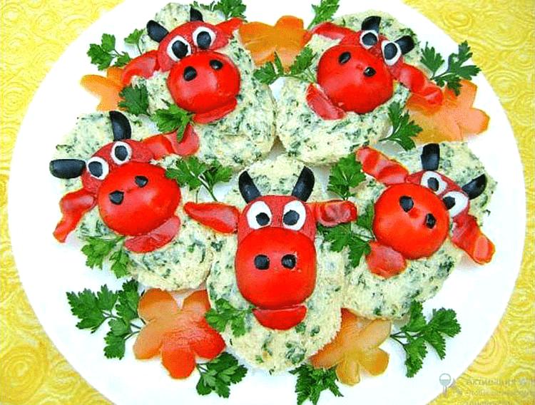быки из помидоров