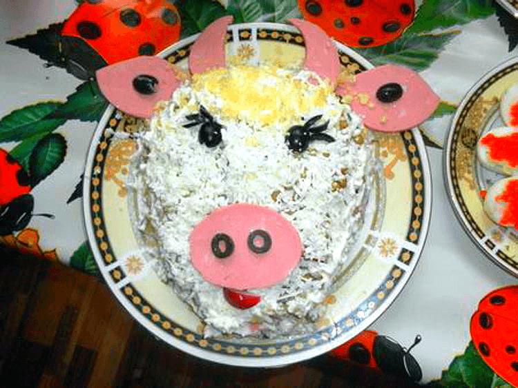 салат корова яичный белок