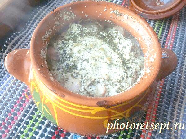 картошка в духовке в горшочках рецепт с фото
