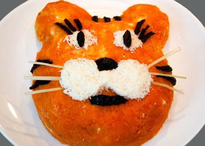 мордочка тигра салат