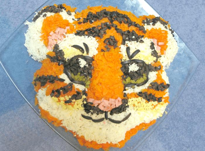 тигриная мордашка салат