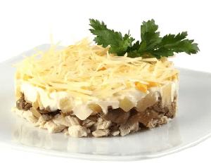 салат с ананасами и курицей фото 2