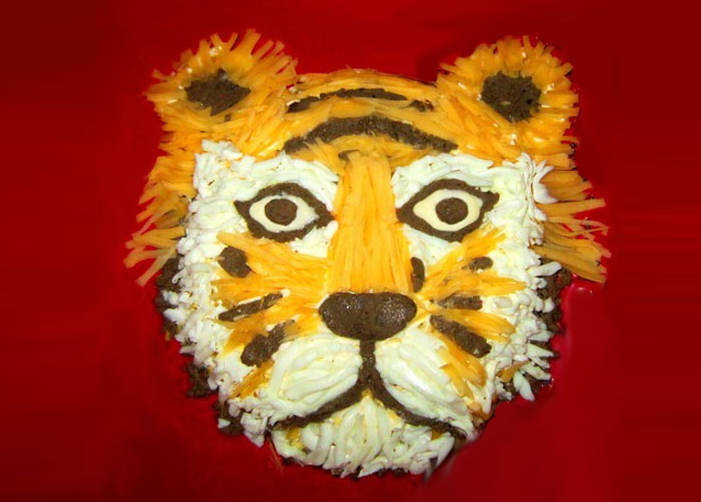 тигр салат вариант