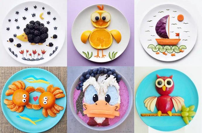 идеи оформления детских салатов миниматюра