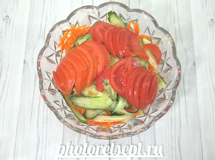 помидор огурец морковь в салате тайском