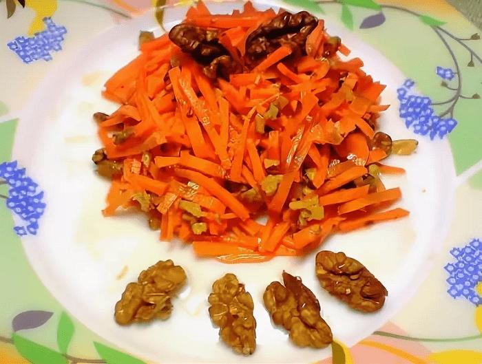 салат морковь мед орехи