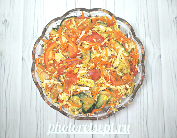 тайский салат с морковью и огурцом