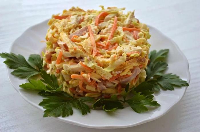 яичные блинчики салат фото 2