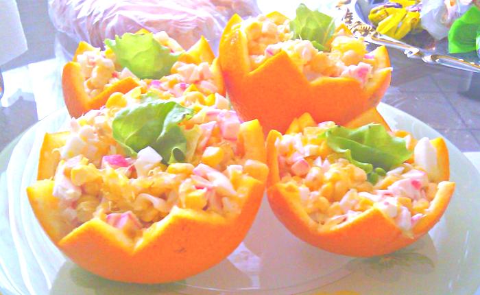 салат апельсины крабовые палочки
